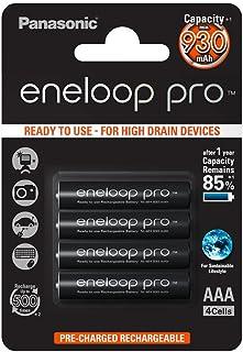 Panasonic eneloop pro, NiMH-accu gereed voor gebruik, AAA micro, verpakking van 4, 930 mAh, 500 laadcycli, met extra hoog ...