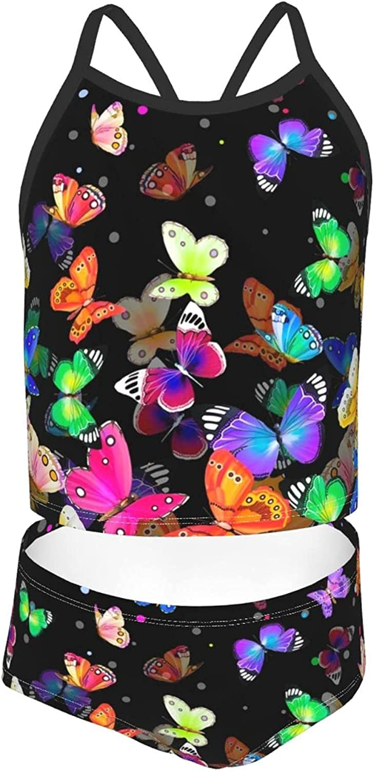 Girls Two Piece Bikini At the price Outlet ☆ Free Shipping Swimsuits Cartoon Swimwear Butterfly Tank