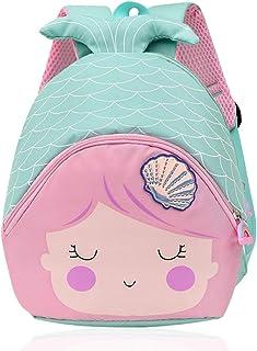 ZSWQ Mochila Infantil para Niños con Sirena Mochila para Niños De Niños y Niñas Sirena 3D Mochila Impermeable Bolsas De Vi...