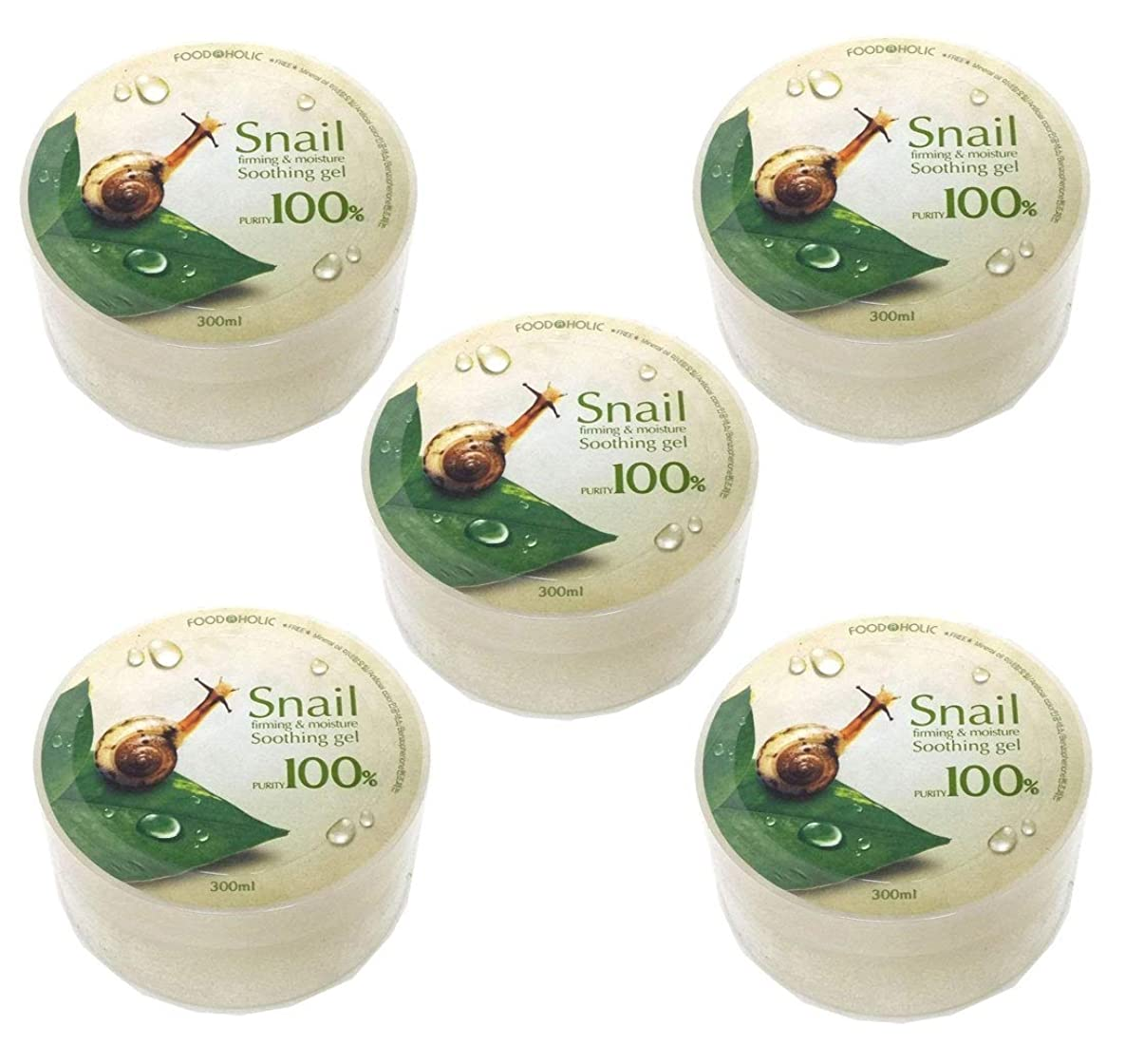カナダ同級生獣[Food A Holic] スネイルファーミング&水分スージングジェル300ml X 5ea / Snail Firming & moisture Soothing Gel 300ml X 5ea / 純度97% / purity 97% / 韓国化粧品/Korean Cosmetics [並行輸入品]