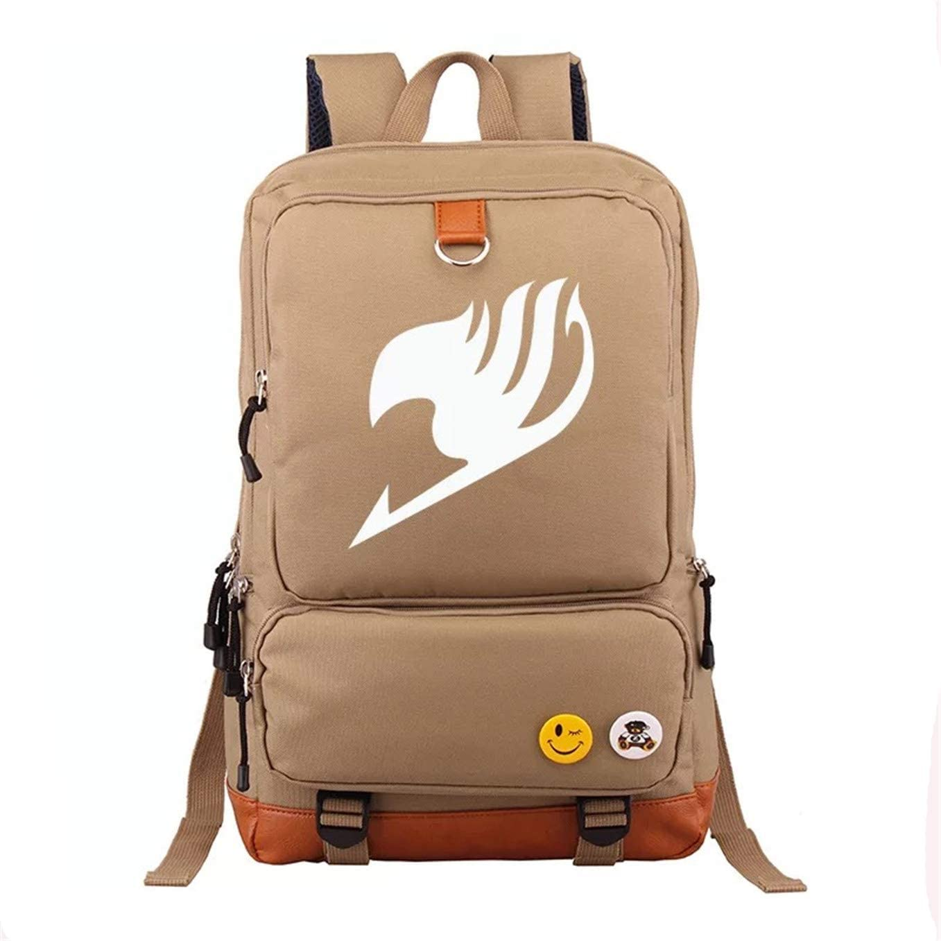 XMTIHE Kids Fairy Tail Canvas School Backpack-Back to School Bookbag Anime Laptop Backpack with Side Pockets