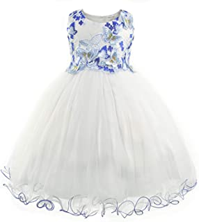 Surprise S Girls Butterfly Appliques Flower Frock Formal Wedding Dresses Fancy Children Gown Evening Party Clothes