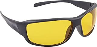 Dervin Yellow Lens Black Frame Night Vision Driving Sunglasses for Men and Women