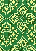 igsticker ポスター ウォールステッカー シール式ステッカー 飾り 841×1189㎜ A0 写真 フォト 壁 インテリア おしゃれ 剥がせる wall sticker poster 004433 その他 模様 緑 シンプル