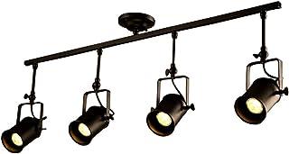 ASPZQ Luz de Techo Negra Foco Pared Industrial Vintage Lámpara Colgante Ajustable Iluminación Tienda Ropa Lámpara Colgante Coffee House // Bar/Mall (Color : 4 Lights)