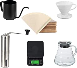 "MIBRU Coffee Server V60""Clear"" Heat Resistant Glass Range Coffee Server | Pour Over Coffee Tea Server | Hand Drip Coffee J..."