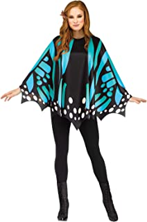 Teal Butterfly Wing Poncho Adult Costume