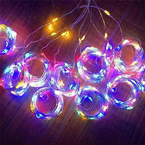 Zonne-afstandsbediening koperdraadgordijnverlichting, sterrenhemelverlichting met acht functies, LED-lichtslingers, knipperende lichtjes-color_3x3 M