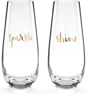 Kate Spade New York Oh What Fun Sparkle and Shine Stemless Champagne Drinking Glasses