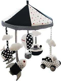 SHILOH Baby Crib Decoration Lullabies Plush Musical Mobile (White and Black)