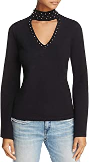Thatch Jana Women's Modal Blend Studded Choker Sweater