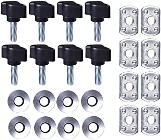 VCCA Hard Top Quick Removal Fastener Thumb Screw and Nut Kit for 1995-2017 Jeep Wrangler YJ TJ JK JKU Sports Sahara Freedom Rubicon X & Unlimited X 2/4 Door (Set of 8)