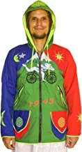 ImZauberwald Bicycle Day Hofmann Jacket UV Active 4 Pockets Psychedelic LSD goa Hoody