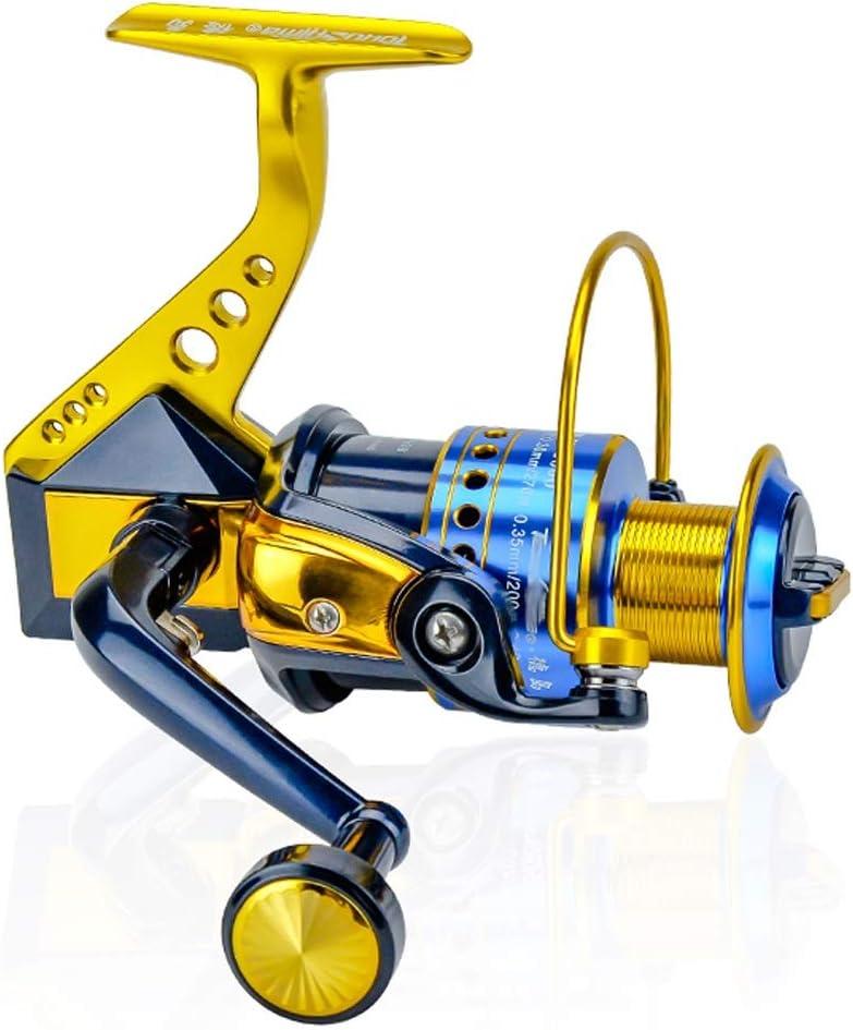 Carrete de Giro de la Pesca, de Peso Ligero con 11 rodamientos de súper Suaves y Alta Potencia Suave Carrete de Pesca, Regalo for Aficionados a la Pesca (Size : 5000)