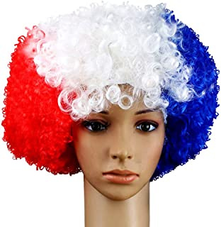 GUGUBU Frankrijk Pruik Vlag Franse Nationale Vlaggen Euro's WK Voetbal Fans Muziek Festival