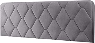 Bed Headboard Cover Headboard Cover Double Beige Padded Elastic Protector Cotton Color Gray 140x73cm