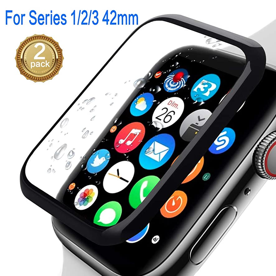 Apple Watch Screen Protector 42mm, Watch Advanced Screen Protector,Meshion [2 Pack] Anti-Scratch/Full Cover Tempered Film Compatible 42mm Series 1/2/3