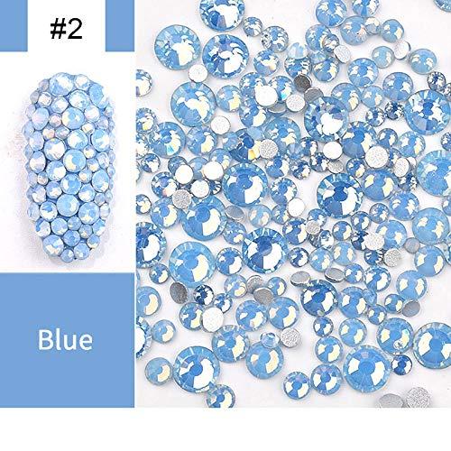MEIYY Nail Art Strass accessoires mix kleur opaal Jelly platte achterkant stenen mixed grootte 3D nails art decoratie 02
