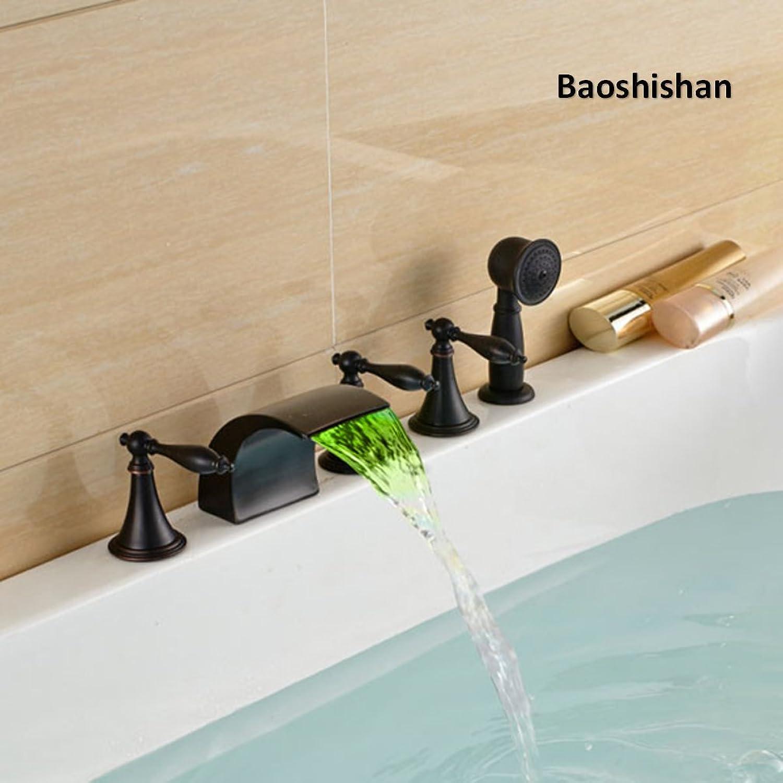 Thermostat-Duschpaneel Edelstahl LED Regen Wasserfall Big Duschkopf Decke Badezimmer Wasserhahn Set Wandmontage Regenfall