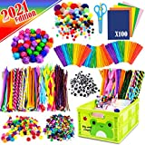 FUNZBO Arts and Crafts Supplies for Kids - Craft Art Supply Kit for Toddlers Age 4 5 6 7 8 9 - All in One D.I.Y. Crafting School Kindergarten Homeschool Supplies (XXX-Large)