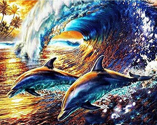 KELDOG® Dolfijn Dier Puzzels 1000 Stuks Puzzels, Voor Volwassenen Houten Decompressie Puzzel Spelspeelgoed Beste Cadeau, Voor Kinderen Grote Puzzels