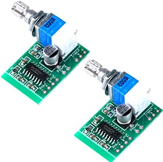 ARCELI Super Mini PAM8403 DC 5V 2 Channel USB Digital Audio Amplifier Board Module 2 3W Volume Control with Potentionmeter Switch Pack of 2