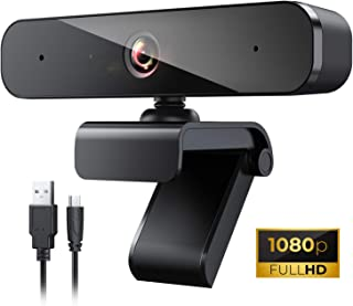 1080P HD Webcam with Microphone, USB Web Camera with Auto Light Correction, Desktop or Laptop Computer HD Streaming Camera for Video Conferencing, Studying Online, and Streaming