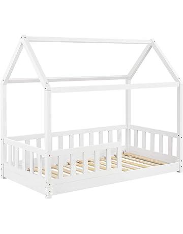 BellaLuni Kinderbett Jugendbett 70x140 Wei/Ã/Ÿ mit Rausfallschutz Matratze Schublade und Lattenrost Kinderbetten f/Ã/¼r M/Ã/¤dchen und Junge