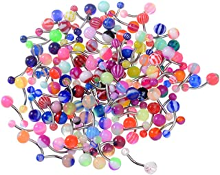 Kathy Mall 316l Surgical Steel 14 Guage 20 Assorted Acrylic Ball Belly Navel Ring Bar Barbell Body Piercing Kit