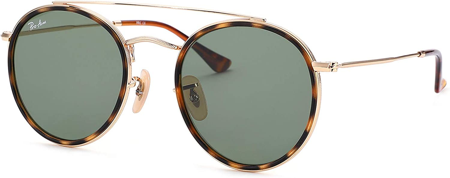 Pro Acme 100% Real Product Glass Lens Bridge Sunglass Small Product Round Double