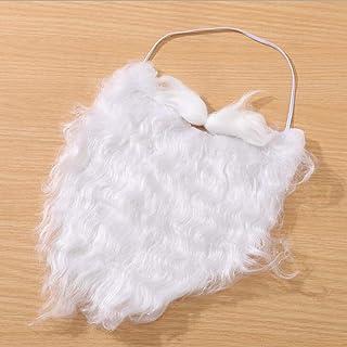 LCZ 6 pièces Costume drôle Père Noël Barbe Moustache Barbe Blanche Faux Costume Accessoires Père Noël pour Noël Adulte Pèr...