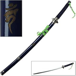 Blue Katana Sword Anime Replica Exorcist Ninja Demon Samurai Steel Blade