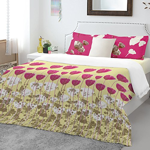 Spaces Atrium Plus 200 TC Cotton Double Bedsheet with 2 Pillow Covers - Pink