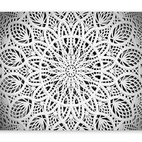 murando – Papier peint intissé 250x175 cm – Papier peint – Tableaux muraux – Déco – XXL – Mandala Orient Abstrait Abstraction 3D f-A-0581-a-b