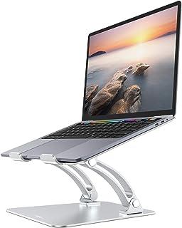 Nulaxy Soporte Portátil, Ergonómico Laptop Stand, Soporte Ajustable para Portátil de Aluminio Compatible con MacBook, Air, Pro y Otras Computadoras Portátiles de 10-17.3 Pulgadas, Plata