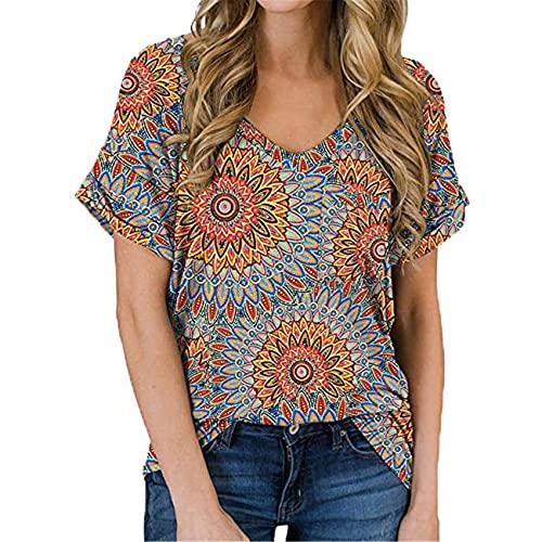 Damen FrüHling Und Sommer V-Ausschnitt Tasche T-Shirt Curled Kurzarm Loose Top