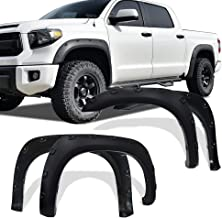 Paintable Black Extended Fender Flares For 07-13 Toyota Tundra Smooth Finish