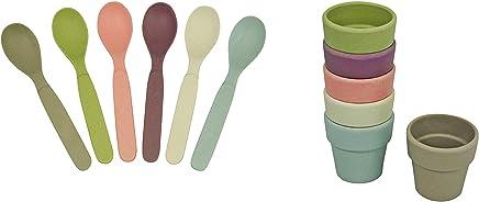 """Preisvergleich für zuperzozial Capventure CAPSET1 Frühstücks Set: 6X Eierbecher + 6X Löffel """"Raw Earth"""" aus Bambus 100% Bio, Farbe: Dawn"""