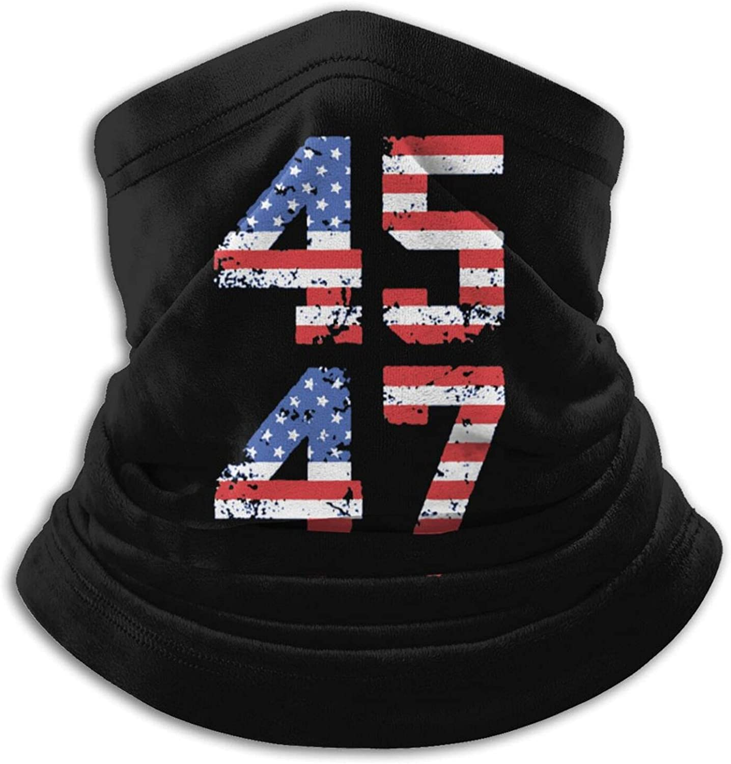 45 47 trump 2024 president1 unisex winter neck gaiter face cover mask, windproof balaclava scarf for fishing, running & hiking