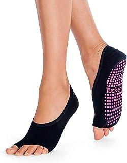 Pilates Ballet Socks for Women, Toeless Non Slip Skid Open Toe Gripper Sock - Pure Barre, Dance