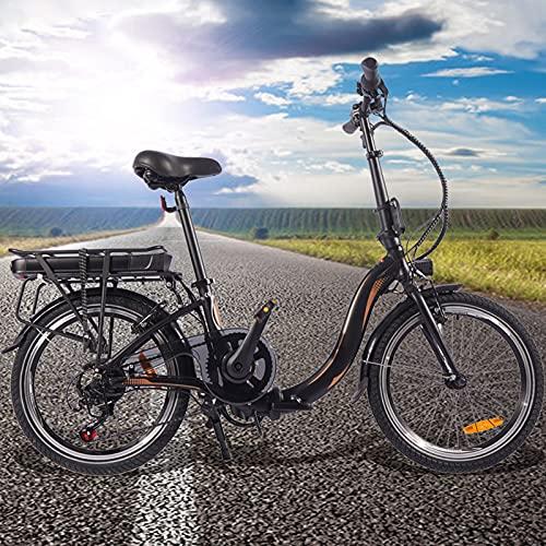 Bicicleta electrica Adulto 250W Motor Sin Escobillas Bicicleta Eléctrica Urbana 7 velocidades Batería de 45 a 55 km de autonomía ultralarga Adultos Unisex