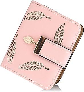 Portefeuille pour Femme, Petit Porte Monnaie Femme Cuir Pliable avec Titulaire de la Carte de crédit Cash ID, Porte-Monnai...