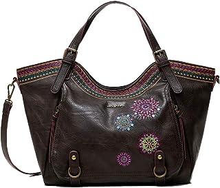 Desigual Accessories PU Shoulder Bag, Borsa a Tracolla. Donna, Marrone, U