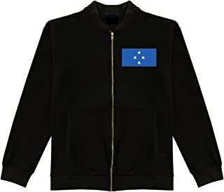 Micronesia Flag Country Chest Cotton Bomber Jacket