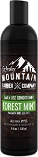 Rocky Mountain Barber Company - Acondicionador para hombre, aceite de árbol de té, menta y eucalipto para todo tipo de cabello, hidrata el cuero cabelludo seco picante, sin parabenos, SLS y DEA, 8 onzas