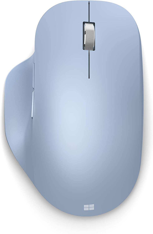 Microsoft Bluetooth 2021 new Ergonomic Mouse latest - Blue Pastel 222-00049