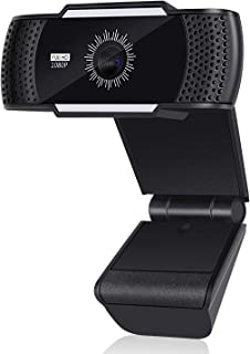 1080P Webcam, Full HD Web Camera with Built-in Dual Microphones, Wide-Screen Camera, and 70-Degree View for PC/Laptop/Desk...