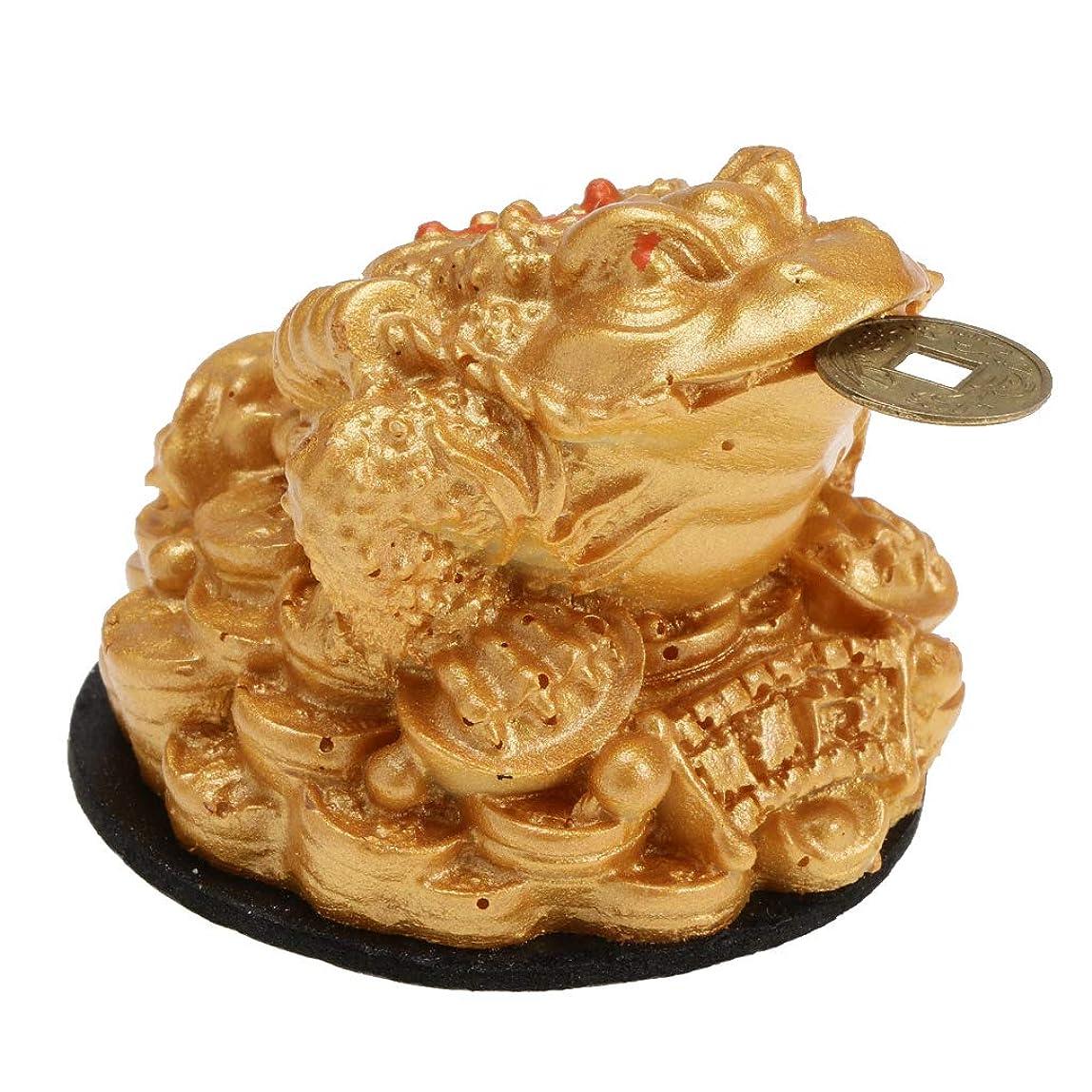 簿記係青手数料風水ヒキガエル 富のカエル コイン 装飾 幸運置物 中国風 工芸品 友達 ギフト