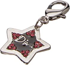 Leather Brothers Diva Star Collar Charms, Medium, Pink