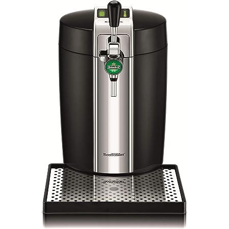 Krups BEERTENDER Machine à Bière Tireuse à Bière Pompe à Pière Machine à Pière Pression Fut 5L Indicateur Température Indicateur Volume Restant Noir et Chrome VB700800